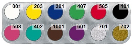 Grimas Water Make-up Palet 12A