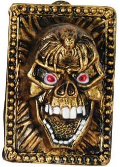 Wanddeco Gouden Skull (35x24cm)