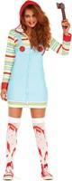 Halloween Dameskostuum Cozy Killer Doll