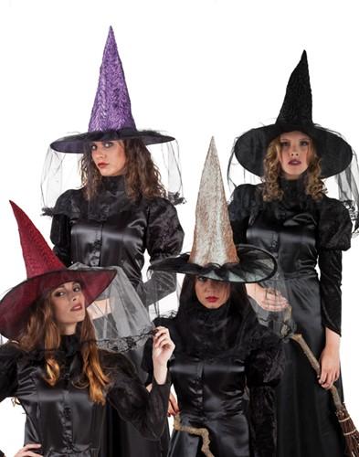 Heksenhoed Rood Witchville Luxe
