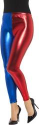 Harley Quinn Cosplay Legging Rood/Blauw