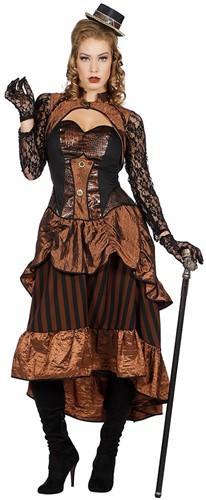 Damesjurk Steampunk Victoria met kant