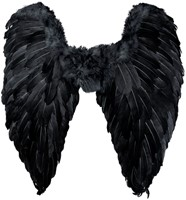 Engelenvleugels Zwart (65x65cm)-2