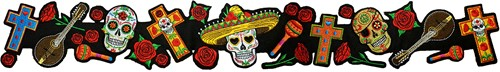 Applicatie Hoedenband Day of the Dead (65cm)-2