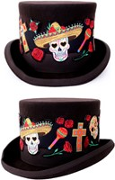 Applicatie Hoedenband Day of the Dead (65cm)-3