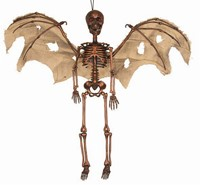 Hangdecoratie Skelet met Vleugels en LED (65cm)