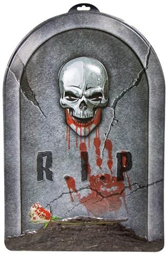 Wanddecoratie Halloween Grafsteen RIP (56x38cm)