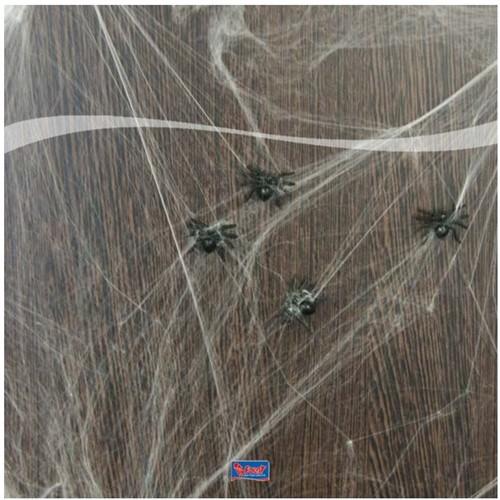 Spinnenweb met Spinnen (20gr)