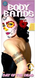 Day of the Dead Gipsy Skull Arm Tattoeages (set van 2)