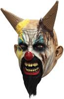 Masker Clown Hells-Cream Latex Luxe