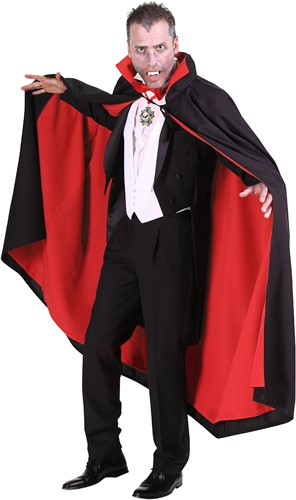 Dracula Cape Luxe Zwart/Rood