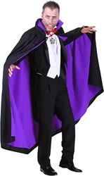Dracula Cape Luxe Zwart/Paars