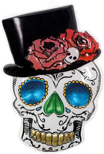 Wanddeco Doodshoofd Mr. Day of the Dead (PVC)