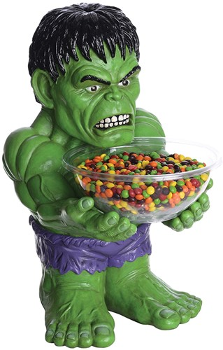 Snoepschaal met Houder Groene Hulk (40cm)