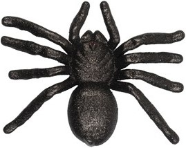 Zwarte Glitter Spin (16x20cm)