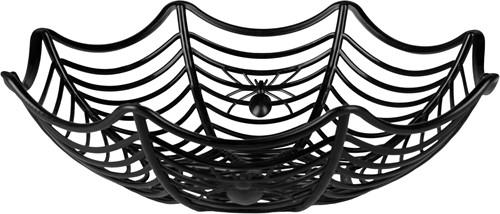 Halloween Spinnenweb Mand met Spinnen (27cm)