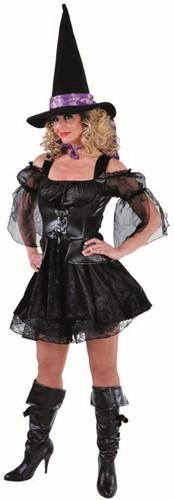 Dameskostuum Sexy Heks Zwart