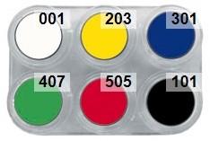 Water Make-up Palet 6 Kleuren Grimas (2,5ml)