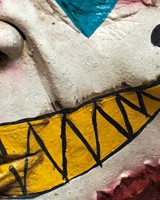 Mime Zack Clown Masker Latex Luxe (detail)