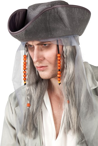 Horror Piratenhoed met Pruik