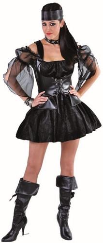 Dameskostuum Sexy Zwarte Heks -2
