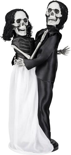 Staande Halloween Deco Bruidspaar Skeletten (41cm)