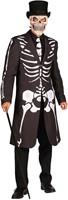 Halloween Jas Skelet Luxe voor heren