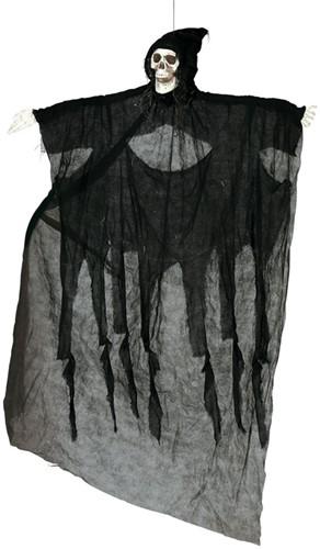 Skelet Hangdecoratie met Zwart Gewaad (180cm)