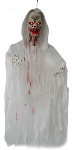 Hangdecoratie Bloody Zombie met licht (110cm)