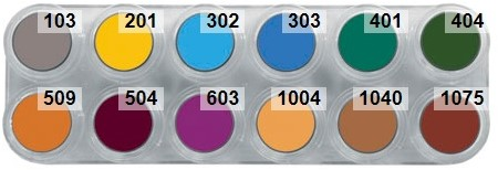 Water Make-up Palet Grimas 12B