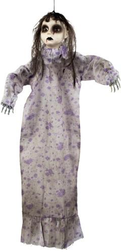 Halloween Deco Hangende Zombie Girl (52cm)
