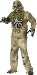 Kostuum Zombie Skelet (5dlg)