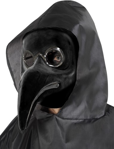 Authentiek Pestdokter Masker Zwart-2