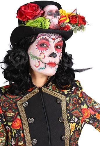 Dames Jas Mexican Skull Coloured Halloween-3