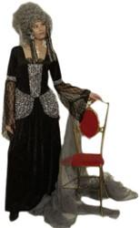 Damesjurk Zwarte Weduwe (met kant)