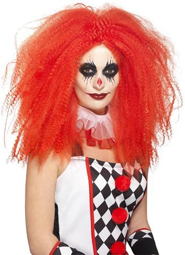 Rode Pruik Clown Penny