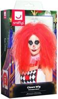 Rode Pruik Clown Penny-2
