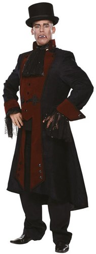 Herenjas Steampunk Zwart/Bordeauxrood