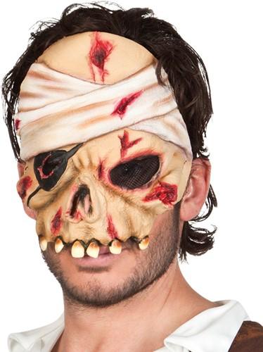 Latex Zombie Piraat Halfmasker