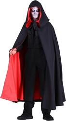 Luxe Halloween Cape met Capuchon Zwart-Rood