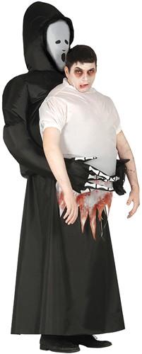 Opblaasbaar Halloween Kostuum Gedragen door Geest