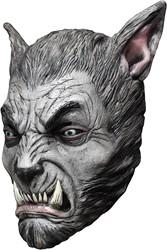 Beast Silver Wolf Masker Latex Luxe