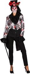 Dames Slipjas Halloween Mexican Skull Black/White