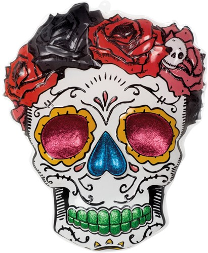 Wanddeco Doodshoofd Mrs. Day of the Dead (PVC)