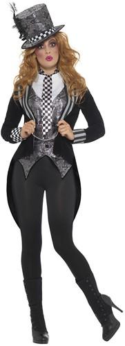 Dameskostuum Sinister Mad Hatter (luxe)