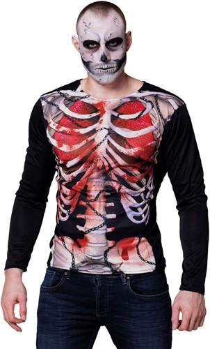 Fotorealistisch T-Shirt Skelet Creepy Geraamte