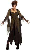 Heksenjurk Golden Witch voor dames