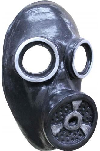 Zwart Gasmasker (Gezichtsmasker, Latex)