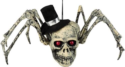 Decoratie Spinnenschedel Halloween (23x29cm)