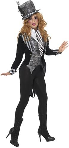 Dameskostuum Dark Mad Hatter Luxe -2